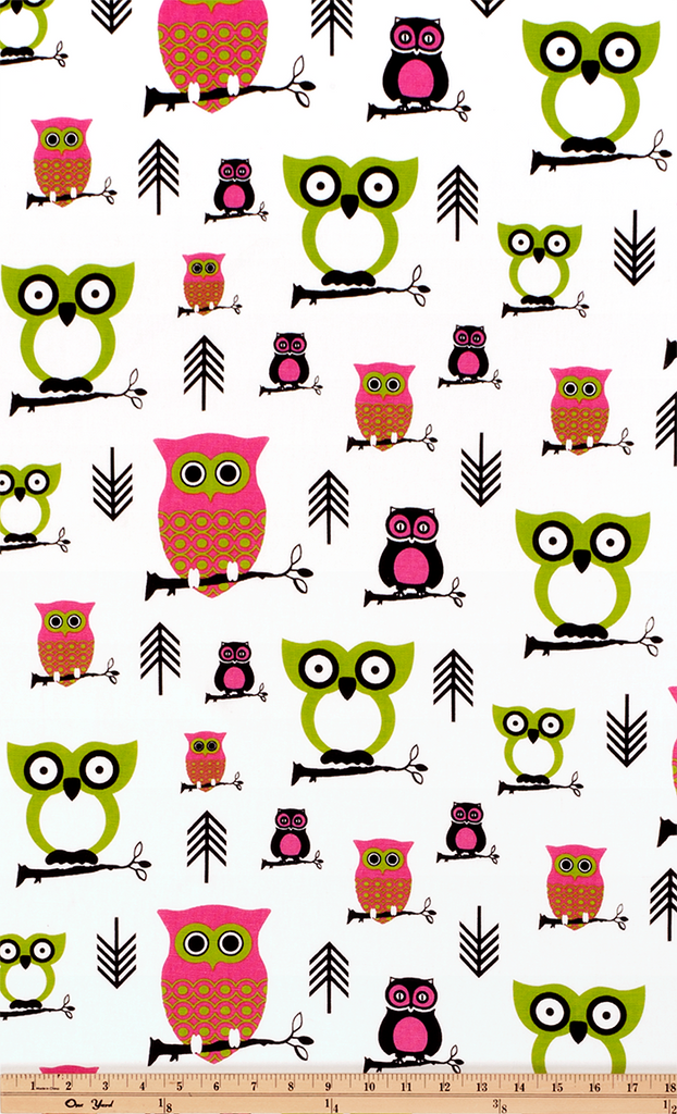 Owl Candy Pink/Chartreuse