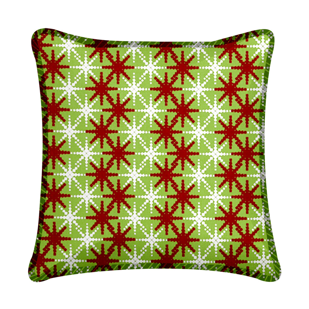 Christmas Snowflake Throw Pillow 18""