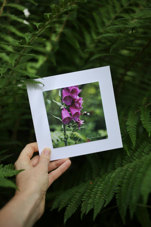 Foxglove card ~ Include a handwritten card with your order