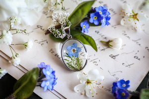 blue forgetmenots cute necklaces for girlfriend