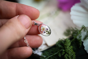 Tiny Queen Annes lace locket