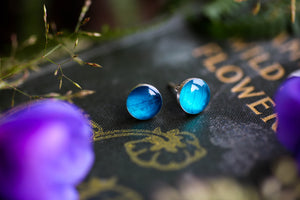 Earring and ring gift set: Turquoise hydrangea