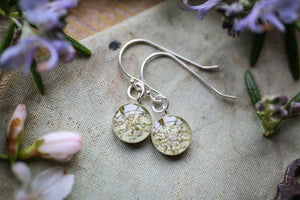 Queen Annes lace flower earrings