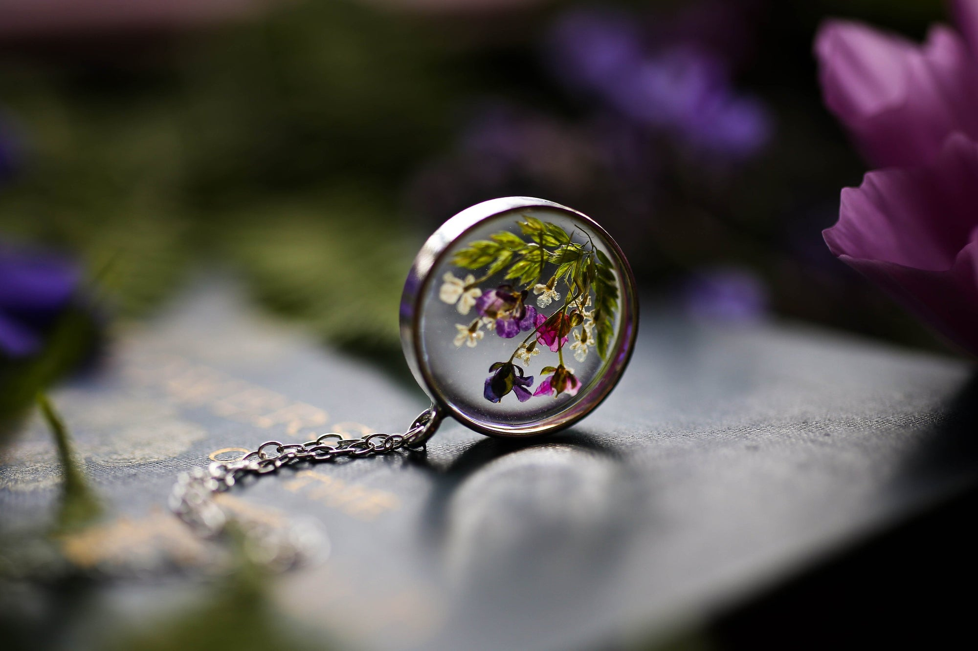 Wildflower garden locket