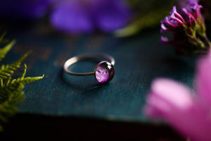 Wild rose petal stacking ring