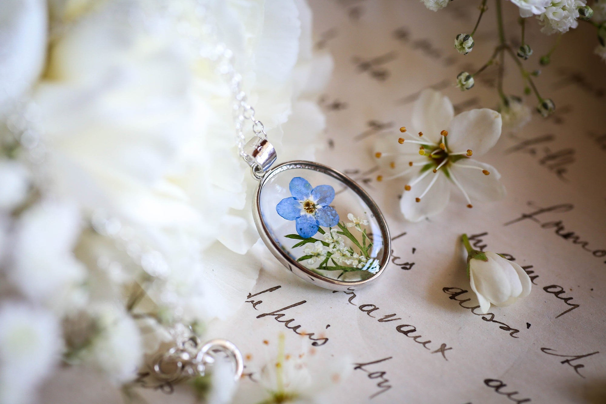 irish flower jewellery forgetmenot necklace