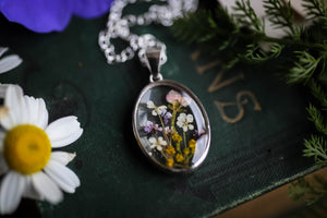 real flower jewellery lockets