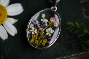 sterling silver pressed flower lockets