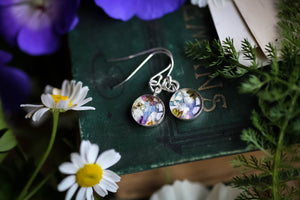 Floral wreath earrings