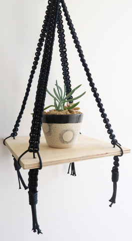Macrame Floating Ply Shelf