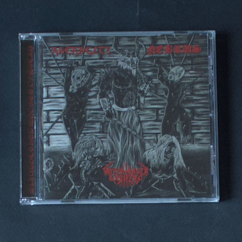 "AKERBELTZ / WAFFENTRÄGER LUZIFERS / NEBRUS ""Slaughtered Whores Of Satan"" CD"