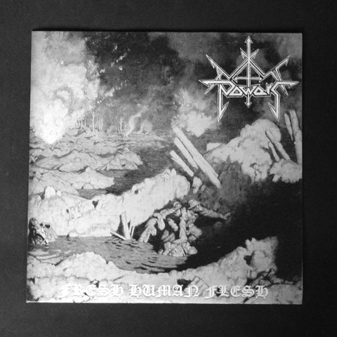 "AXIS POWER / ILL NATURED ""Flesh Human Flesh / Reject the Living"" 7""EP"
