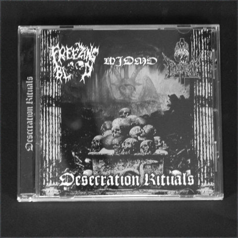 "FREEZING BLOOD / WIDMO / THE SONS OF PERDITION ""Desecration Rituals"" CD"
