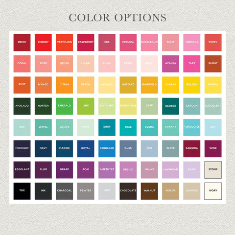 maxim creative invites color chart