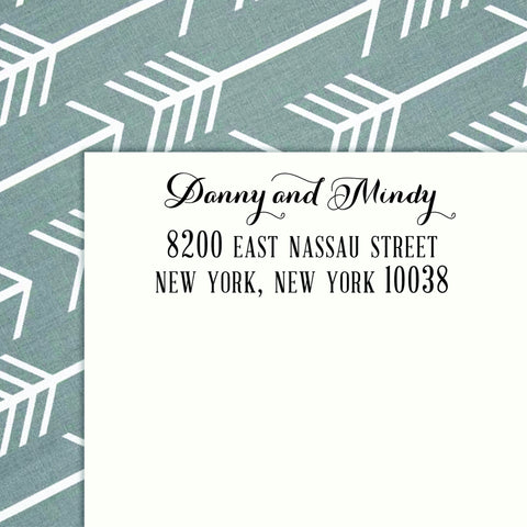 Personalized Address SELF INKING or WOOD HANDLE RUBBER Stamp - DESIGN 210 - maximcreativeinvites