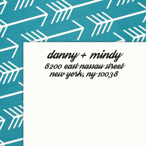 Personalized Address SELF INKING or WOOD HANDLE RUBBER Stamp - DESIGN 204