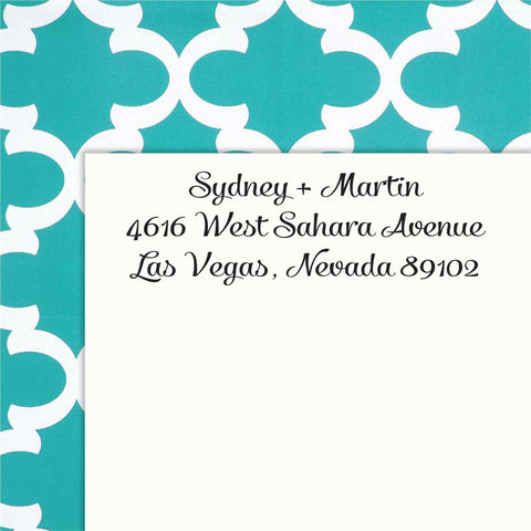 Personalized Address SELF INKING or WOOD HANDLE RUBBER Stamp - DESIGN 223