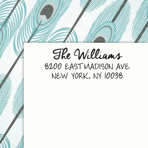 Personalized Address SELF INKING or WOOD HANDLE RUBBER Stamp - DESIGN 229. . .by Maxim Creative Invites