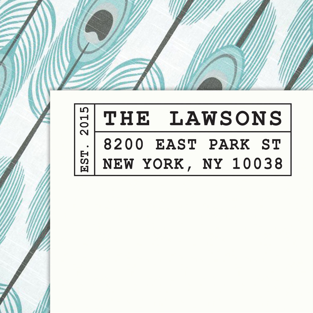 Personalized Address SELF INKING or WOOD HANDLE RUBBER Stamp - DESIGN 231 - maximcreativeinvites