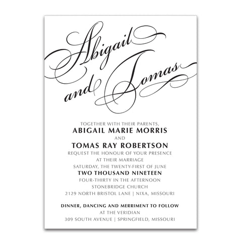 Sophisticated Typography Invitation - 3 Piece Set