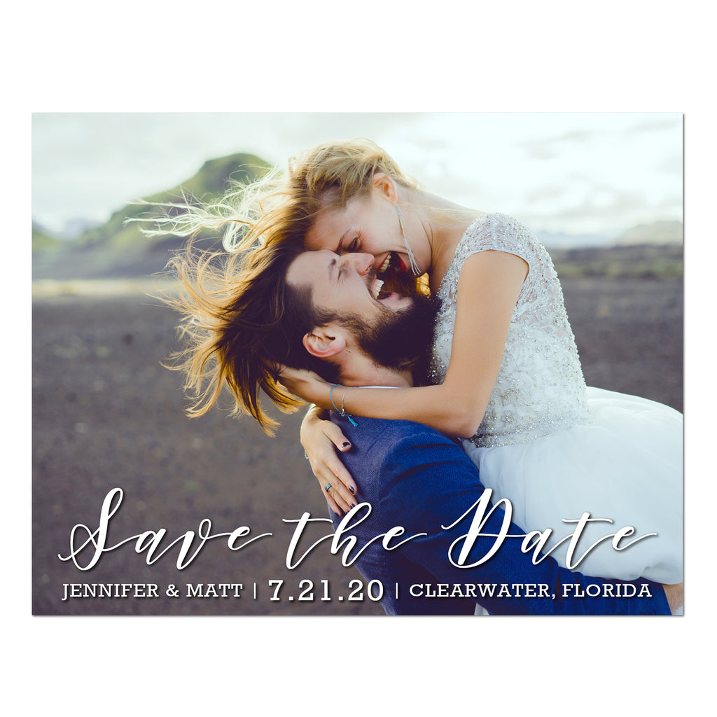 Romantic Script Save the Date Magnet