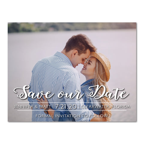 Classic Save the Date Magnet or Postcard