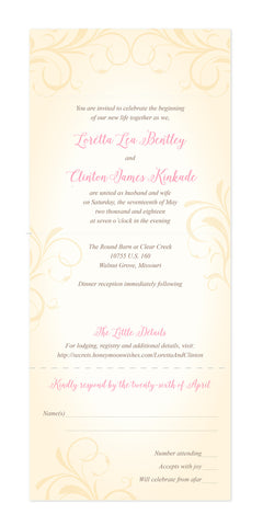 Vintage Flourish - Seal and Send Wedding Invitation - maximcreativeinvites