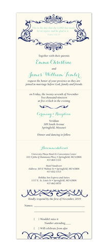 Seal and Send Wedding Invitation - Romantic Grace - maximcreativeinvites