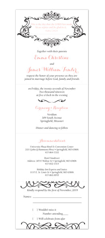 Romantic Grace - Seal and Send Wedding Invitation