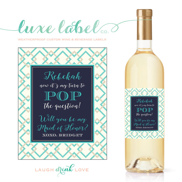will you be my bridesmaid wine label maximcreativeinvites