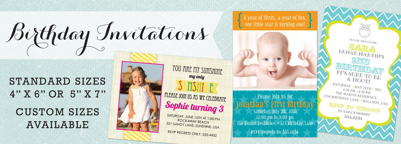 Birthday Invitations by Maxim Creative Invites