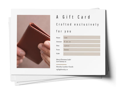 Hentley Gift Card - $100