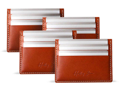 Zanzibar Slim Leather Card Holder (4 Pack)