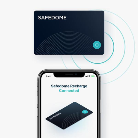 Bluetooth item Tracker + Wireless Phone Charger by safedome