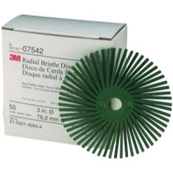 "3M COMPANY  3"" Scotch-Briteâ Radial Bristle Discs 50 grade Coarse Green MM07542 - G and G Tools"
