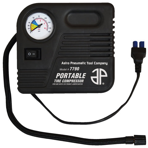 ASTRO PNEUMATIC Portable Tire Compressor For 12V Mini Jumpstarter AST7790