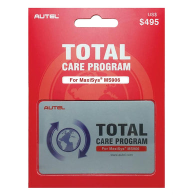 Autel MS906 One Year Total Care Program  Card AU38001988 - G and G Tools