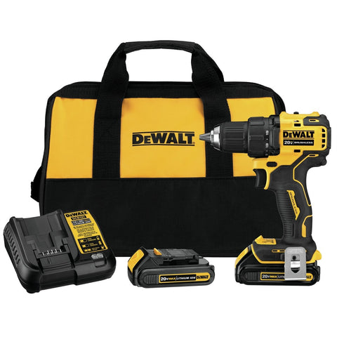 DeWalt ATOMIC 20V MAX Brushless Compact 1/2 in. Drill/Driver Kit DWDCD708C2