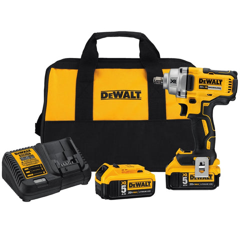 DeWalt 20V MAX XR 1/2 in. Compact High Torque Impact Wrench Kit DWDCF894HP2
