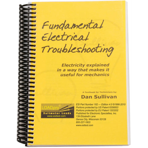 ELECTRONIC SPECIALTIES Fundamental Electrical Troubleshtg Book- 200 Pages ESI182