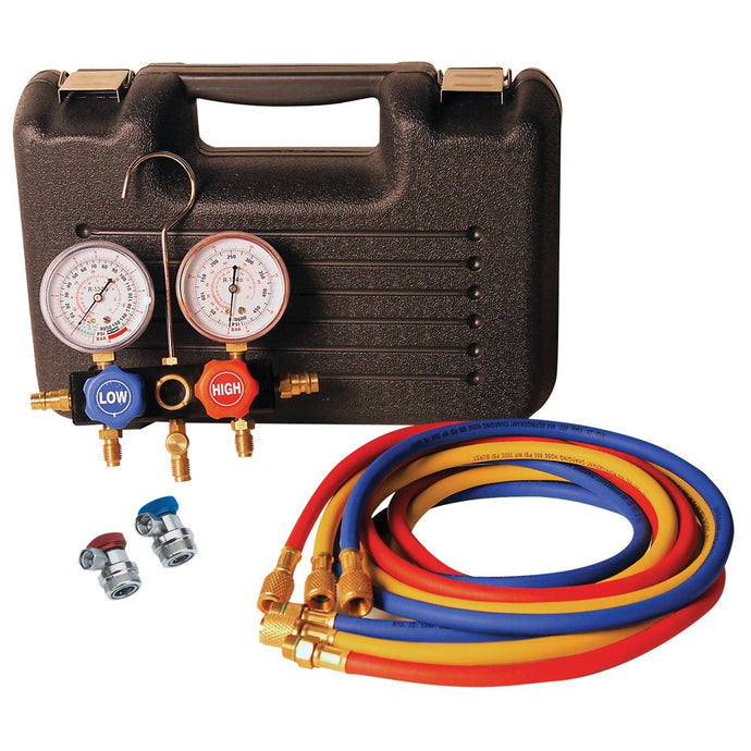 FJC, INC. Duel Manifold Gauge Set 2 PC in Case FJC6855 - G and G Tools