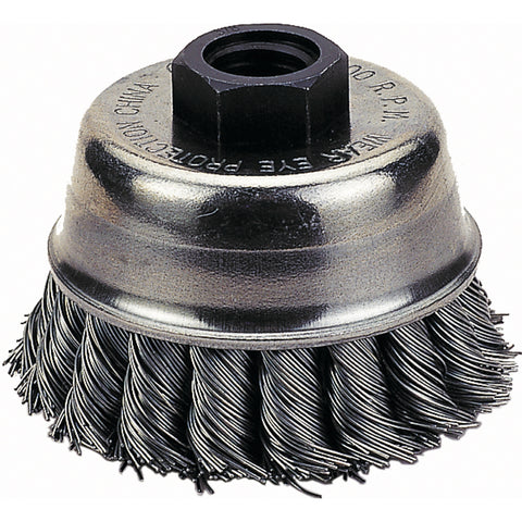 "FIREPOWER Cup Brush, 3"" Knotted Wire      FPW1423-2110"