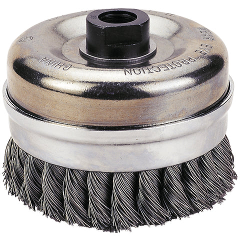 "FIREPOWER Cup Brush, 6"" Knotted Wire FPW1423-2116"
