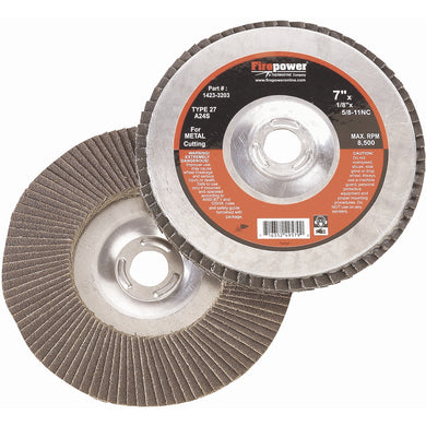 FIREPOWER Flap Disc, Zirconia, 4-1/2