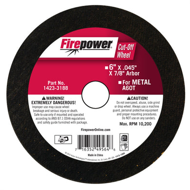 FIREPOWER Cut-Off Wheel, 6