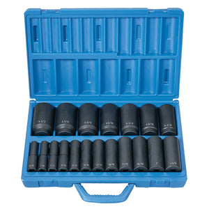 "GREY PNEUMATIC 19 Pc 1/2"" Dr Deep Length Fractional Master Set GRE1319D"