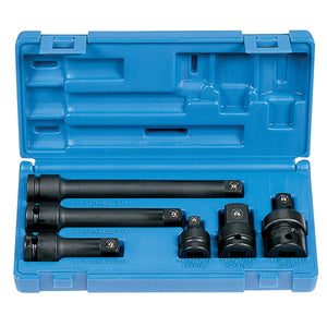 "GREY PNEUMATIC 6 Pc 1/2"" Dr Adapter & Extension Set GRE2200"