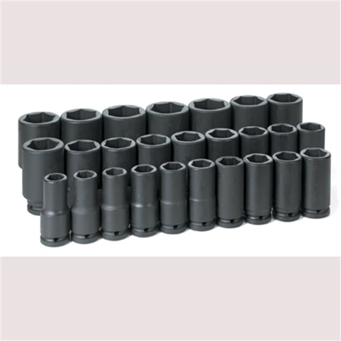 GREY PNEUMATIC 3/4 Drive 26 Pc Metic Set GRE8026MD