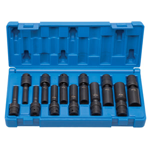 "GREY PNEUMATIC 1/4"" Drive 12 Pc Deep Universal Metric Set GRE9712UMD"