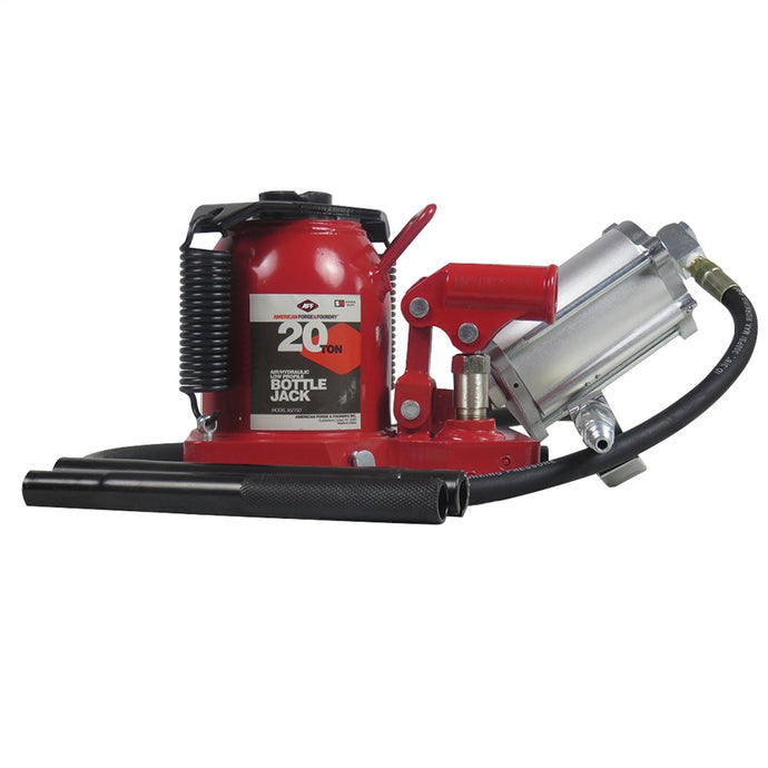 American Forge 20 Ton Low Profile Super Duty Air / Hydraulic Bottle Jack IN5621SD - G and G Tools